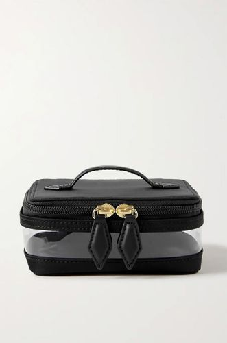 Mini See-All leather-trimmed nylon and TPU cosmetics case