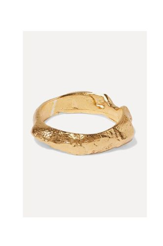 The Edge Of The Abyss gold-plated ring