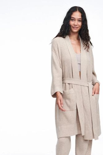 Recycled Cashmere Waffle Robe