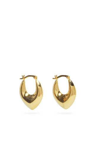 Metallic Clio Gold Vermeil Hoop Earrings
