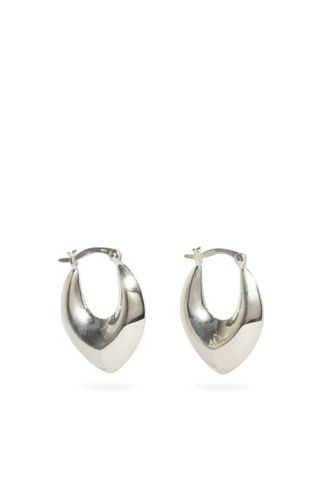 Metallic Clio Sterling-Silver Hoop Earrings