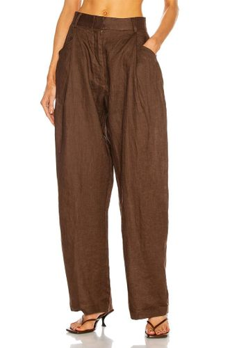 Linen Pant in Chocolate