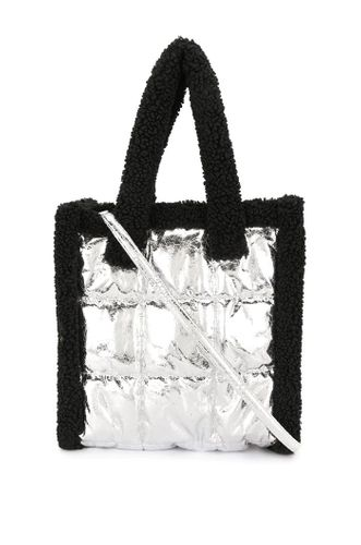 Metallic Tone Quilted Tote Bag