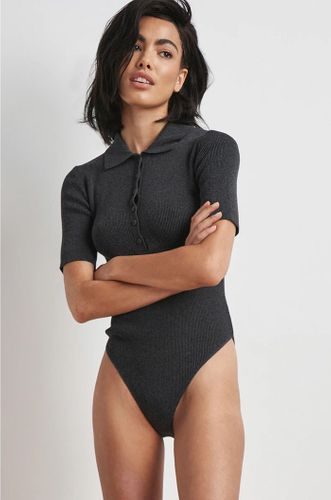 Recycled Polo Neck Ribbed Bodysuit