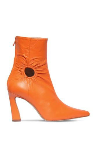 80 mm Fory Lether Ankle Boots in Orange