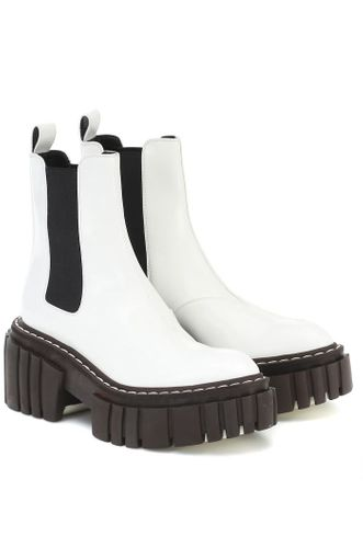 Emilie White Chunky Ankle Boots