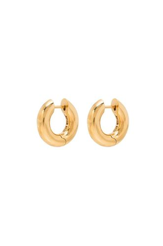 Gold Almost Hinged Hoop Earrings