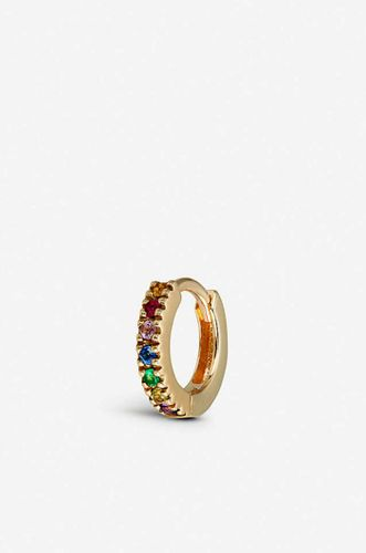 Rainbow 9ct Gold Huggie Hoop Earring