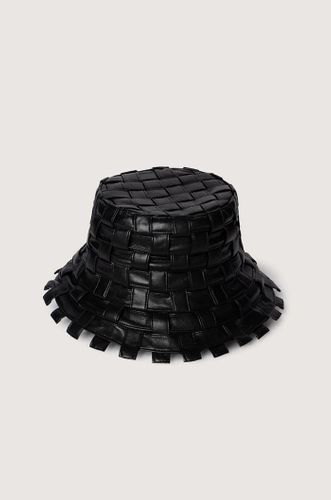 Woven Regenerated Leather Hat