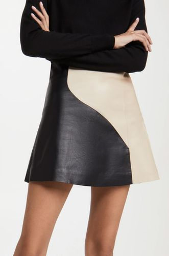 Wavy Leather Skirt