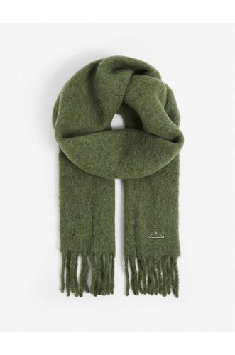 Recycled Wool Cashmere Scarf in Green