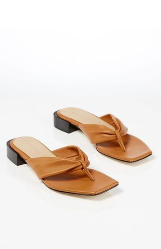 Leather Wrap Sandals in Pecan