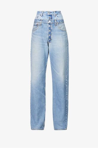 Upcycled Double Waistband Slimfit High Rise Jeans
