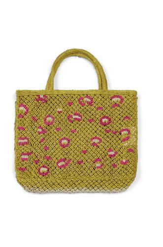 Small Leopard Basket in Yellow