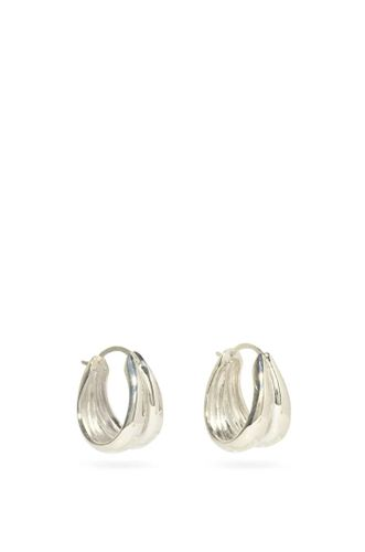 Recycled Silver 1930 Double Hoops