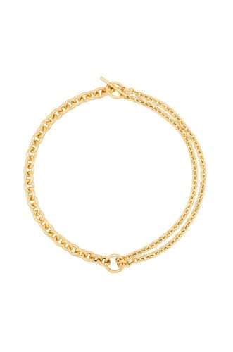 18kt Gold Double Mix Chain Necklace