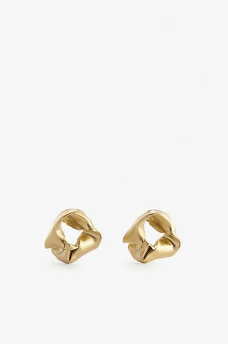 Scrunchie Small 14ct Gold Plated Stearling Silver Earrrings