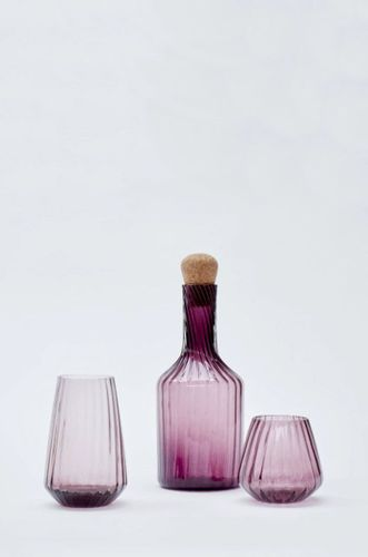 Hand Blown Recycled Glass Tall Tumbler in Pink