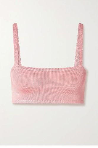 Baby Pink Cropped Bra Top