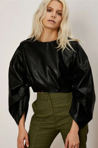 Balanced Form Faux Leather Top