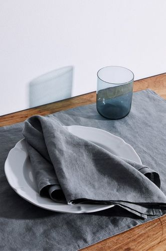 100% Linen Napkins in Mineral