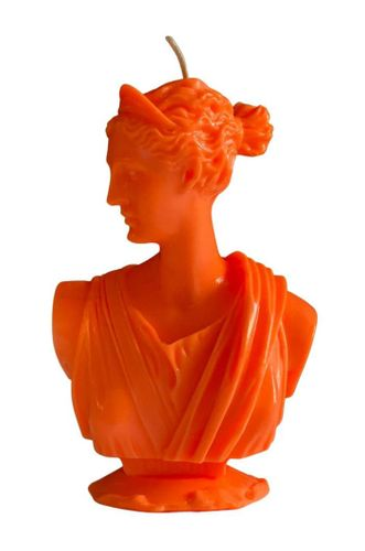 Artemis Bust Candle in Neon