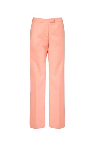 Recycled Cool Wool Flared Pants in Pink