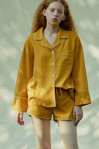 3 Piece Tencel Pajamas Set Yellow