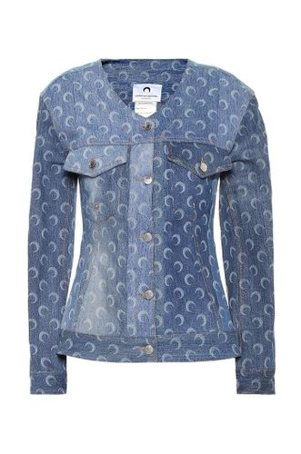 Printed recycled-cotton denim jacket