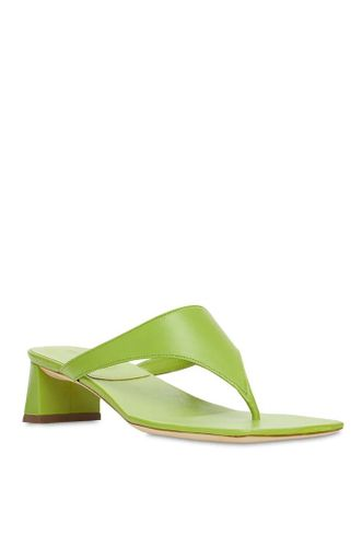 40 mm Shawn Leather Thong Sandals in Lime Green