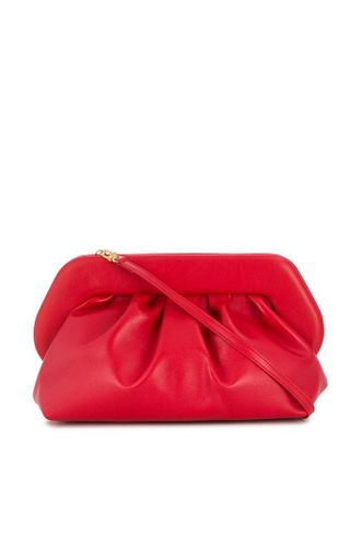 Vegan Leather Red Clutch