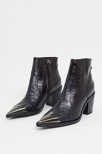 Harmony Western Boots in Mock Croc Leather
