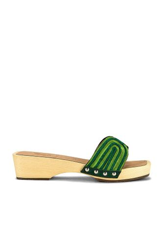 Harness Clog in Green & Olive