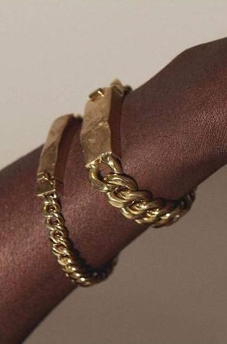 Heavy Chain Bracelet with Molded Clasp