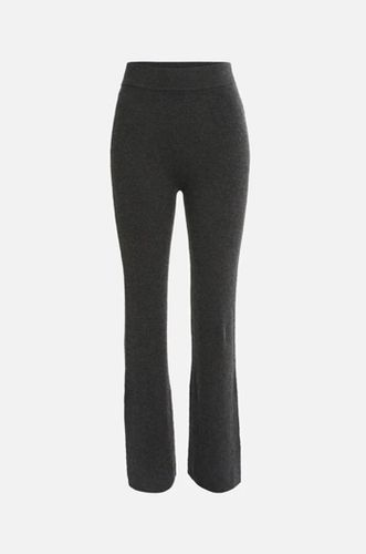 Ribbed Wool and Sustainably Sourced Viscose Knit Pant