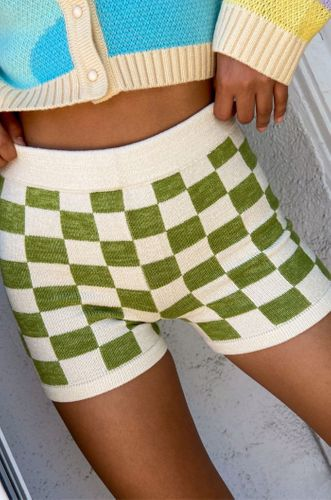 Checkered Shorts in Green