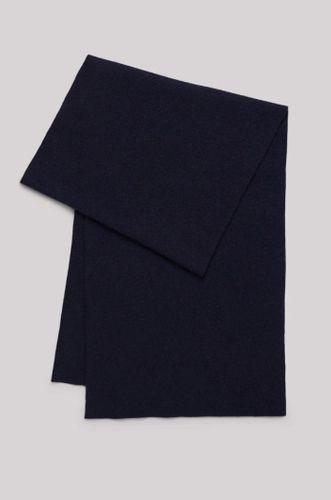 Recycled Cashmere Scarf - Navy