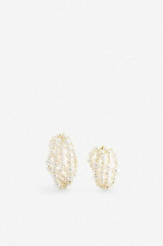 14ct Yellow Gold Plated Vermeil Silver and Pearl Earring