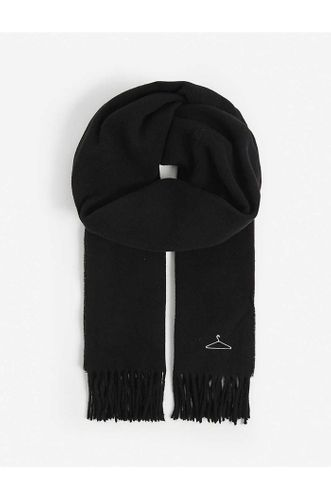 Recycled Wool Cashmere Scarf in Black