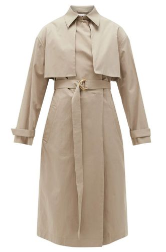 Organic Cotton-Blend Trench