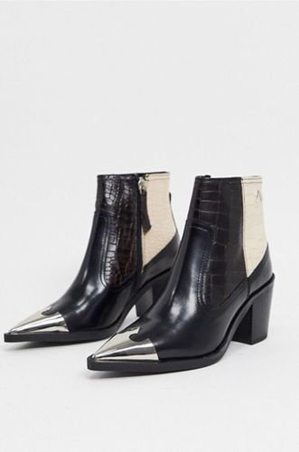 Harmony Western Boots in Mixed Mock Croc Leather