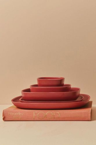 Recycled Bamboo Gusto Plate in Spice